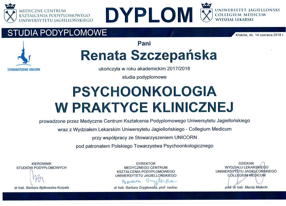 Psychoonkologia w praktyce klinicznej - psychoonkolog Bielsko-Biała Śląsk